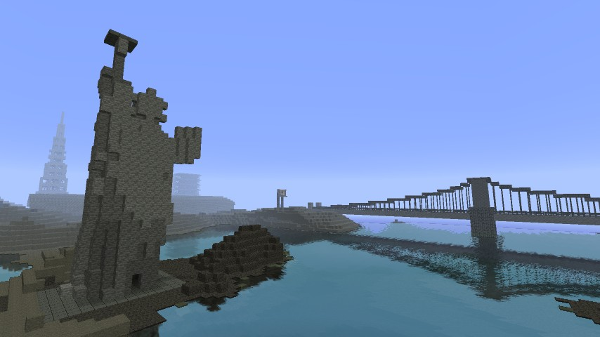 bridge+statue of liberty