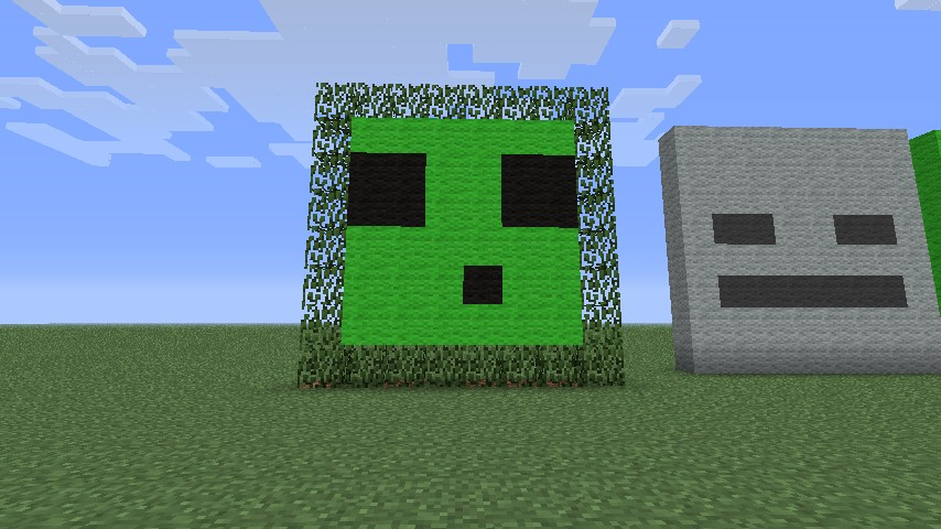 Mob Face Pixel Arts Minecraft Project