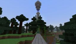 A Kingdom(in progress) A tower with a piston door Minecraft Map & Project
