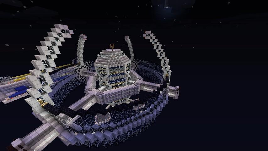 Космическая Станция в Майнкрафт