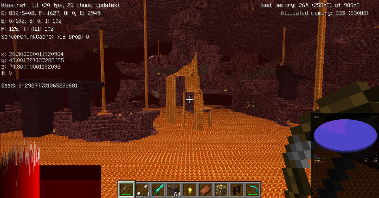 Seed with 2(!!) nether fortress Minecraft Project