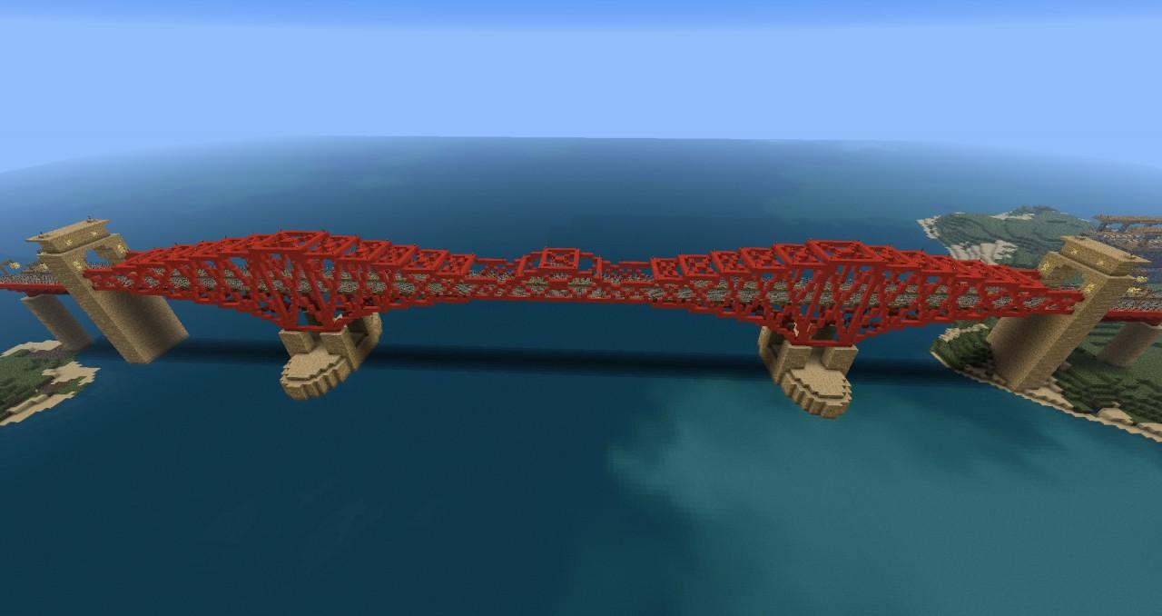Cantilever bridge based on the Forth Rail Bridge in Scotland.  1:5 scale