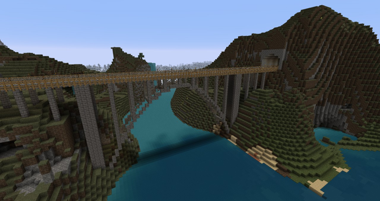 Deck arch bridge based on the Bixby Creek Bridge in Big Sur, CA. 1:2 scale.