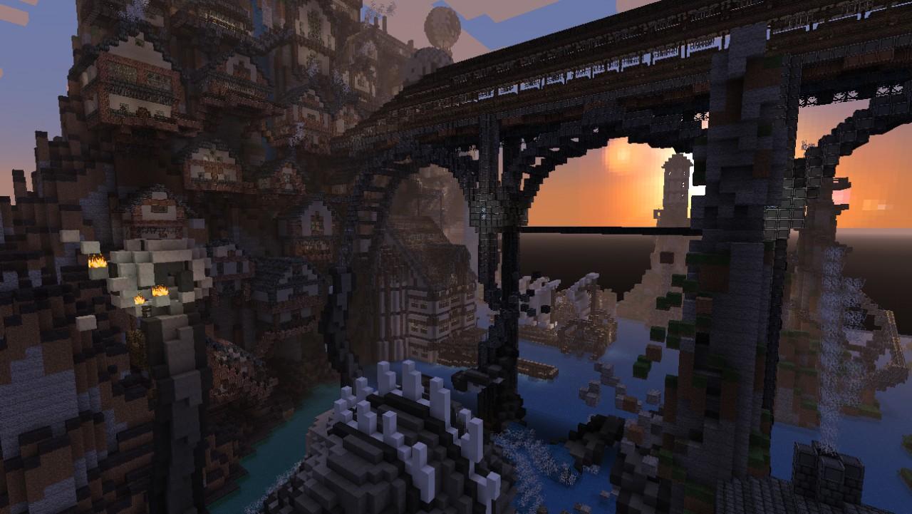 [Gravi'team] Steampunk City - timelapse + schematic ...