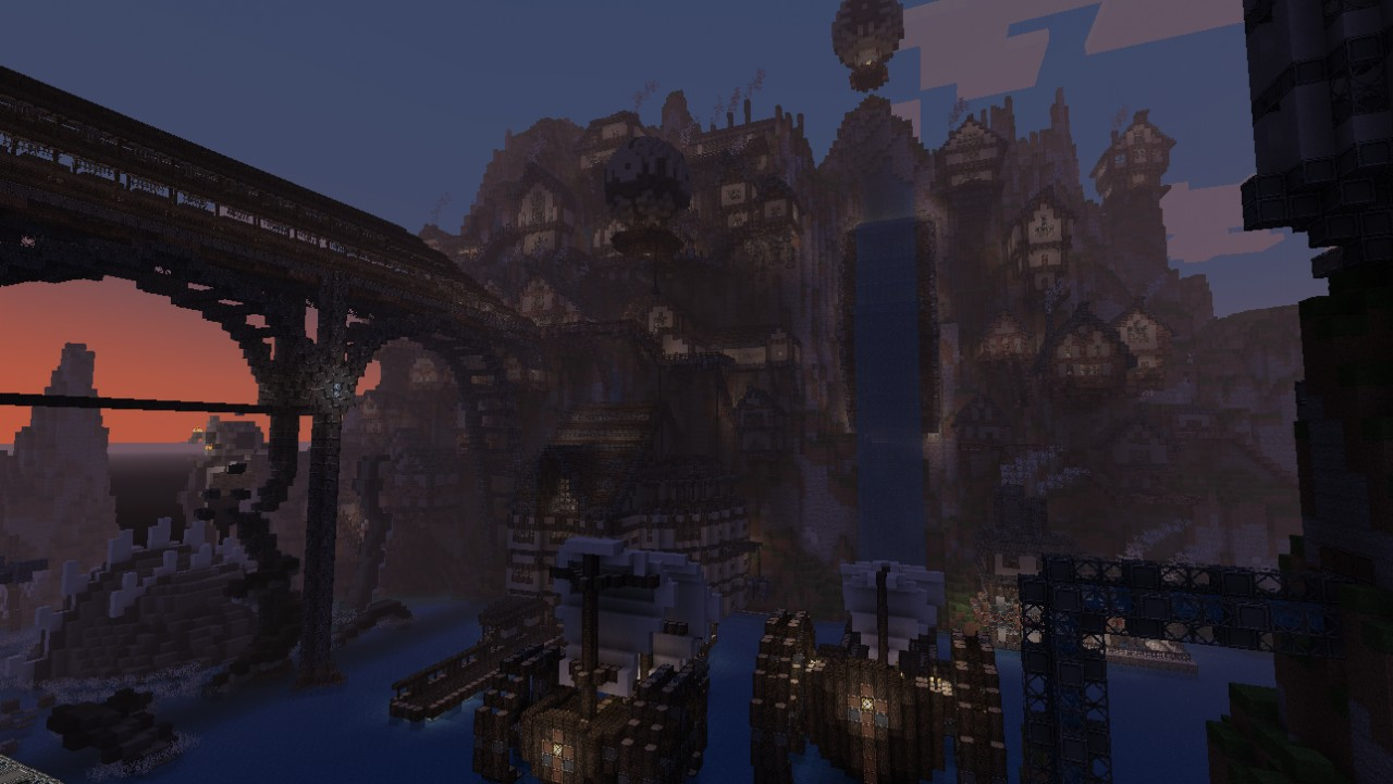 [Gravi'team] Steampunk City - timelapse + schematic ...
