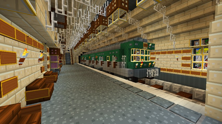 Minecraft Build Train System