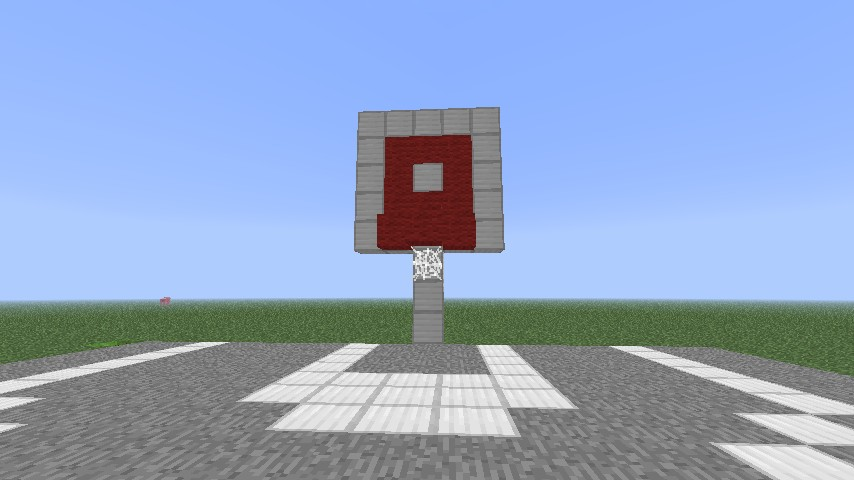 Outdoor basketball court Minecraft Project