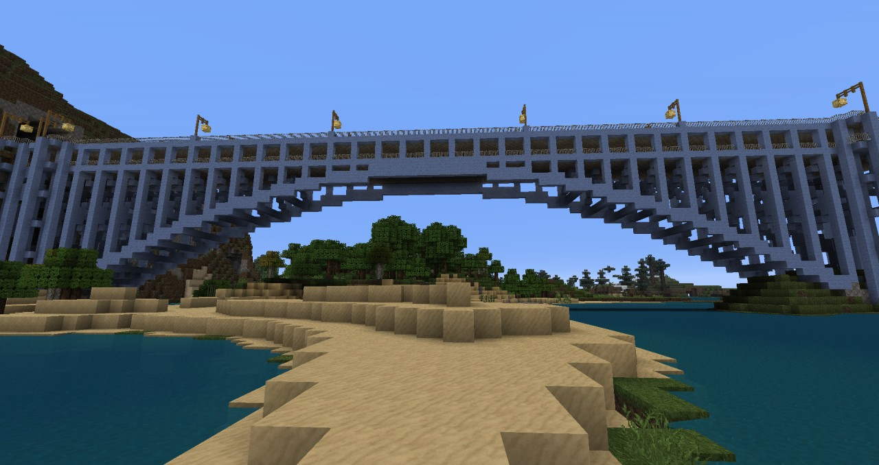 Deck Arch bridge based on The Henry Hudson Bridge in New York, NY  1:2 scale