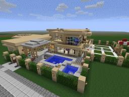 Modern Sandstone Mansion Minecraft Map & Project
