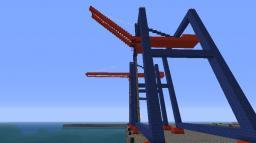 Modern Harbor cranes