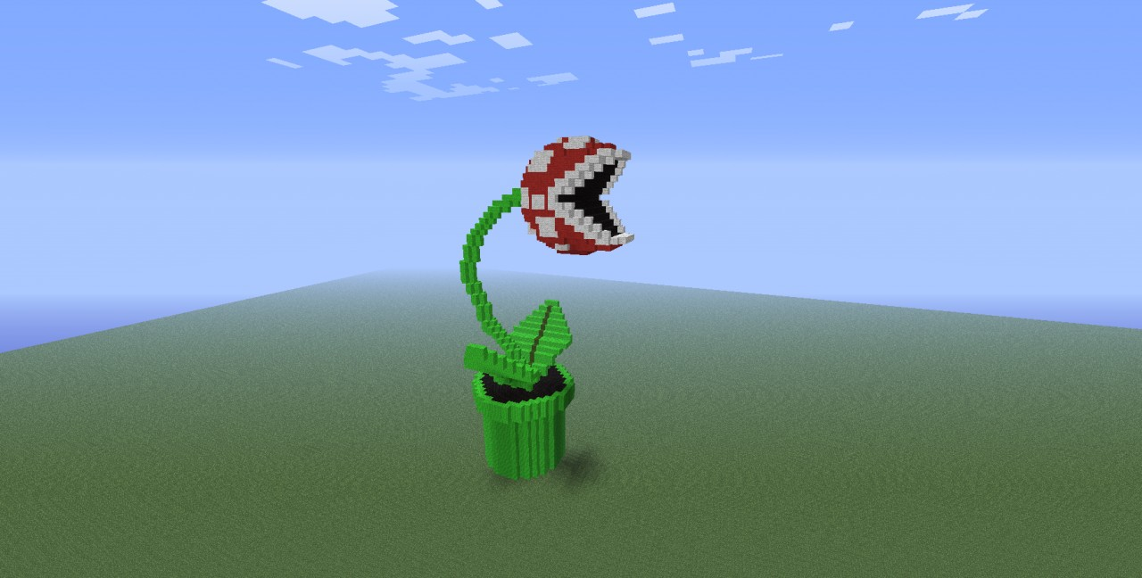 Piranha plant from super mario minecraft project for Plante carnivore 01