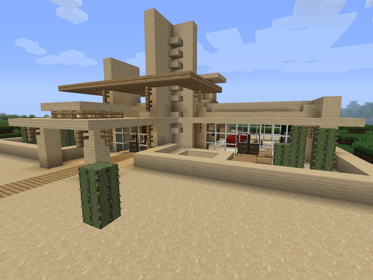 Modern desert home minecraft project for Houses projects