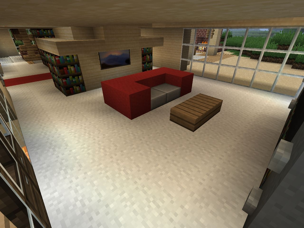 minecraft living room designs modern desert home minecraft project 11779
