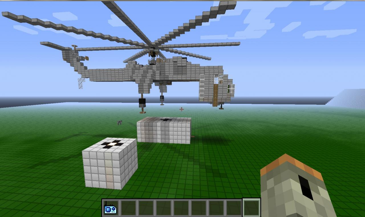 How To Build A Cargo Helicopter In Minecraft