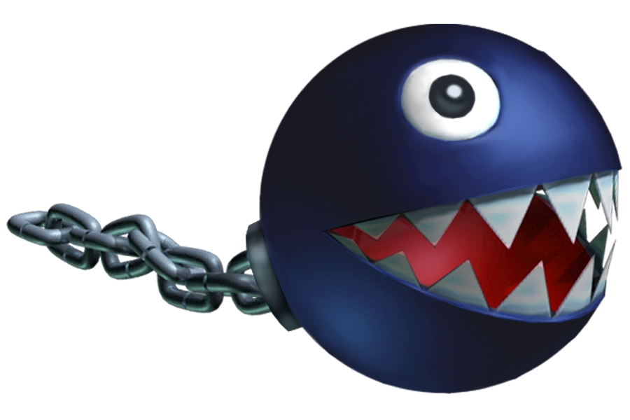 Super Mario Chain Chomp Minecraft Project