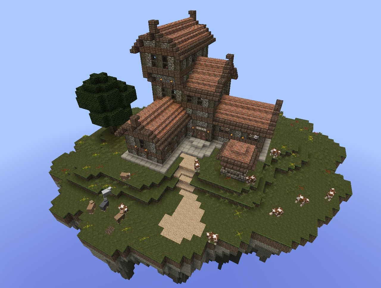 Medieval series lucky goblin inn minecraft project for Building classic small craft