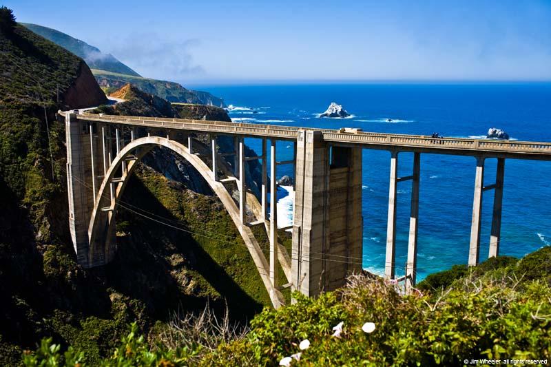 The real Bixby Creek Bridge in Big Sur, CA