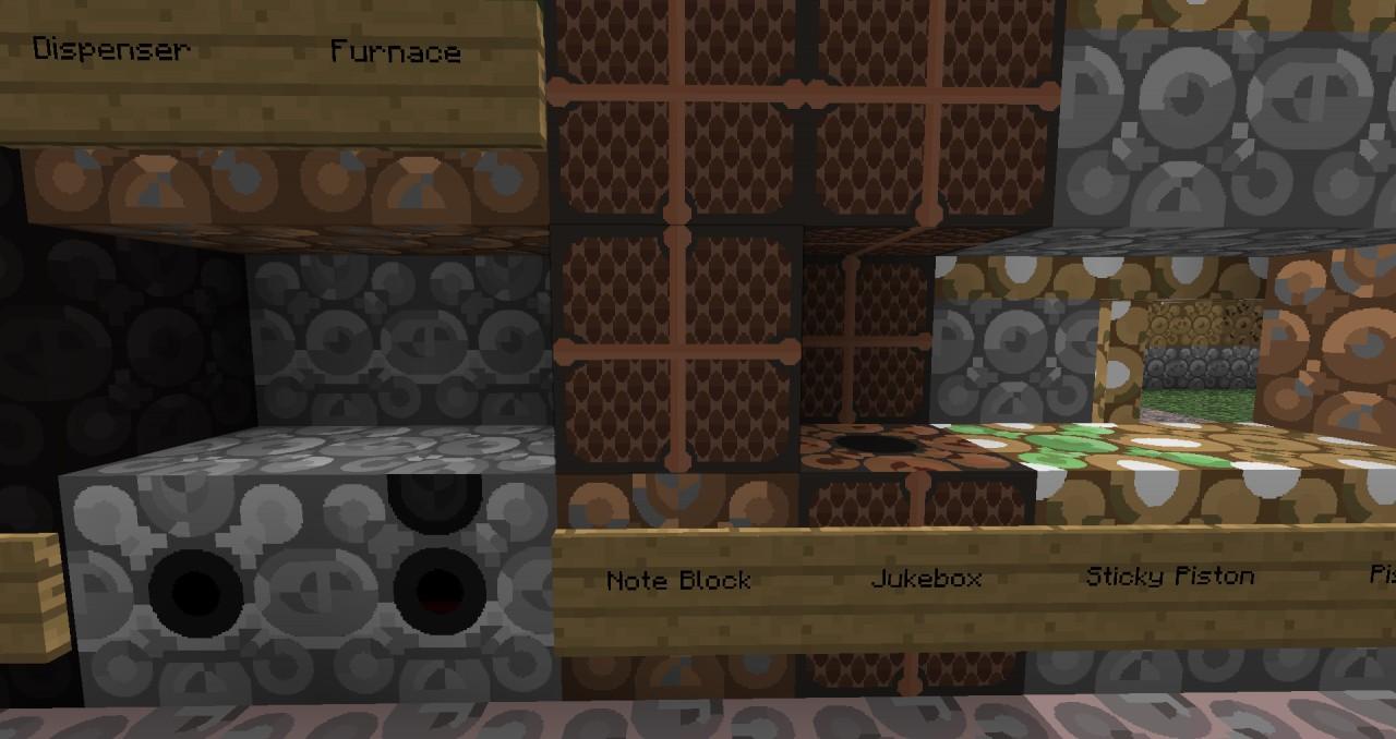 Furnace, Dispenser, Note Block, Juke Box, Sticky Piston