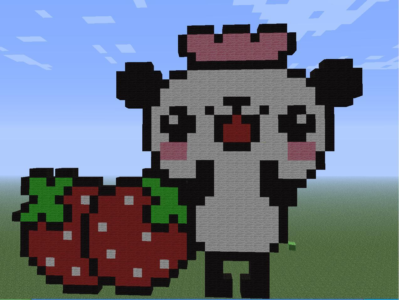 Bunny In Minecraft Build