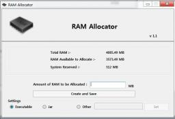 RAM Allocator 1.1 Minecraft Mod