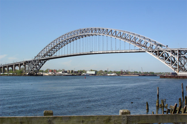 The real Bayonne Bridge, connecting Bayonne, New Jersey & Staten Island, NY