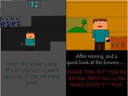 Noob Quest- Finding Lapis! Minecraft Blog