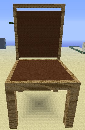 how to build a chair in minecraft