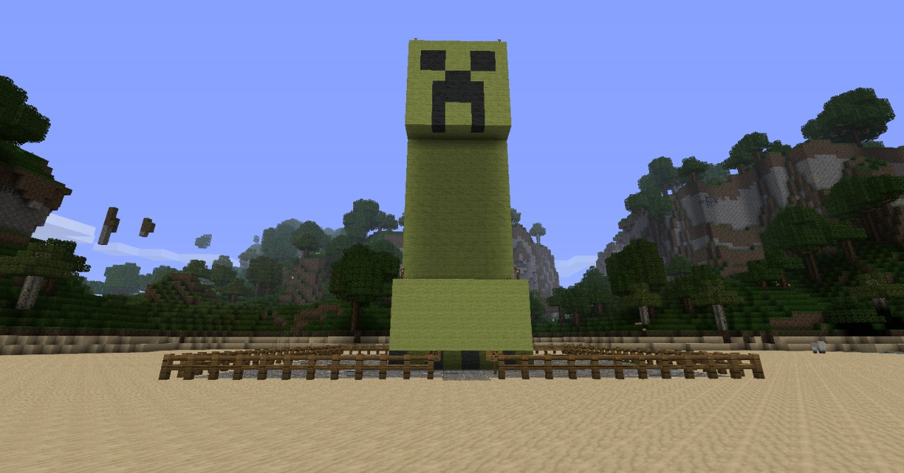 how to make a giant creeper in minecraft