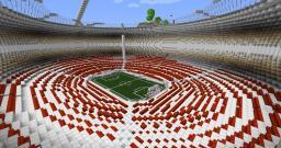 Football (US. Soccer) Stadium Minecraft Map & Project
