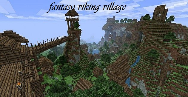 Fantasy Viking Village Minecraft Project