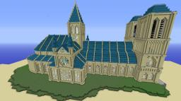 Notre Dame inspired cathedral Minecraft Map & Project