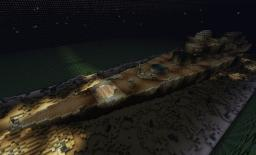 Wreck of the German Battleship Bismarck Minecraft Map & Project