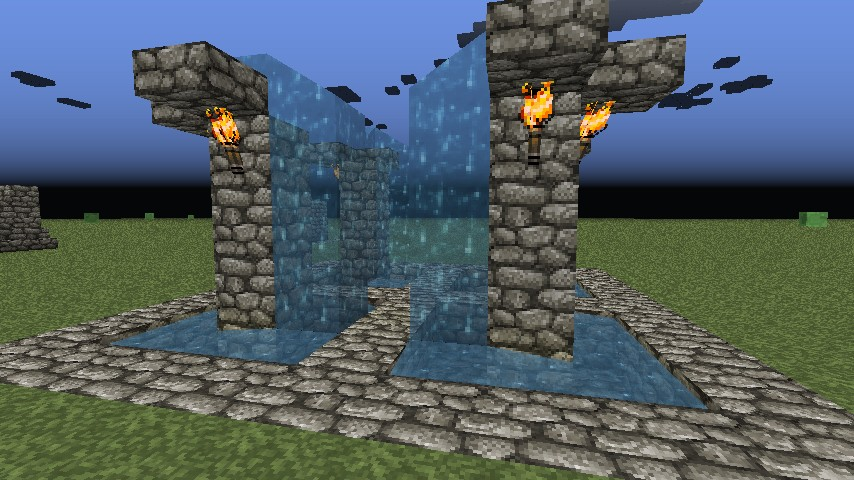 Fountain Ideas on Minecraft Wall Designs
