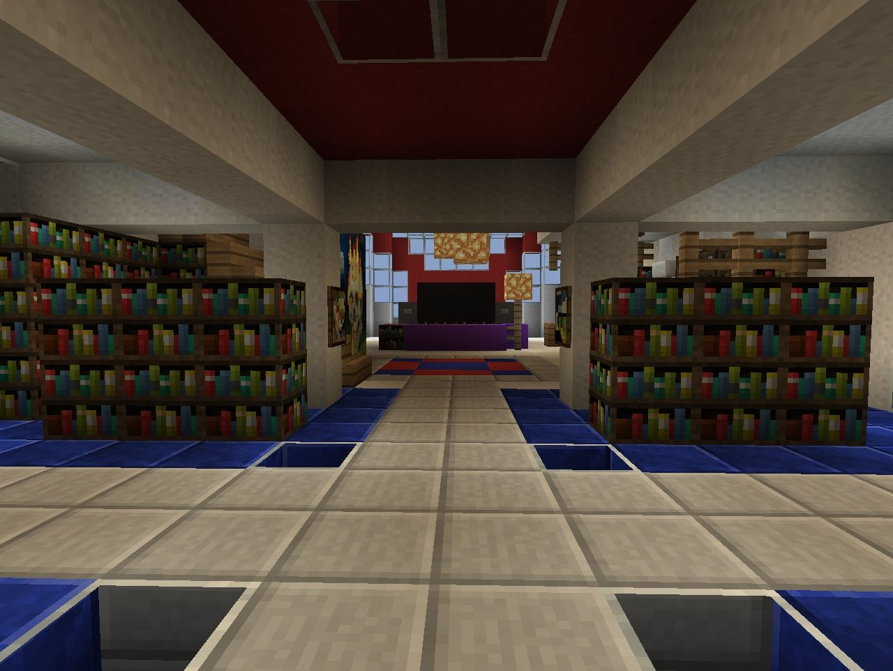 Park modern home combo minecraft project for Modern front room