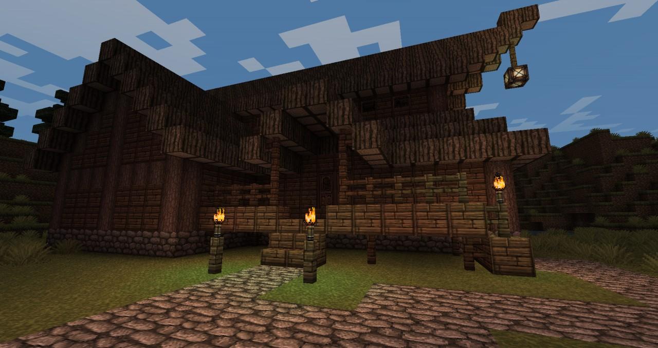 minecraft medieval pub build tutorial - YouTube