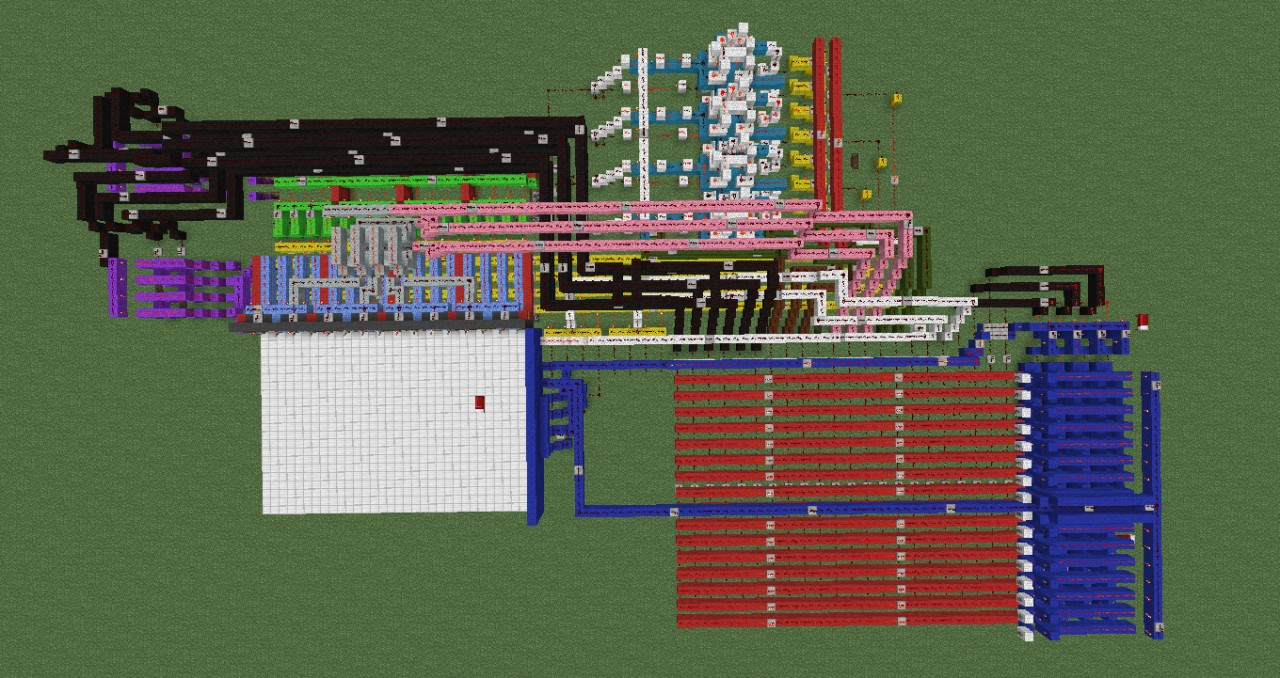 4 Bit Alu Computer With Tutorial And Extras Minecraft Project 1 Logic Diagram View From Above