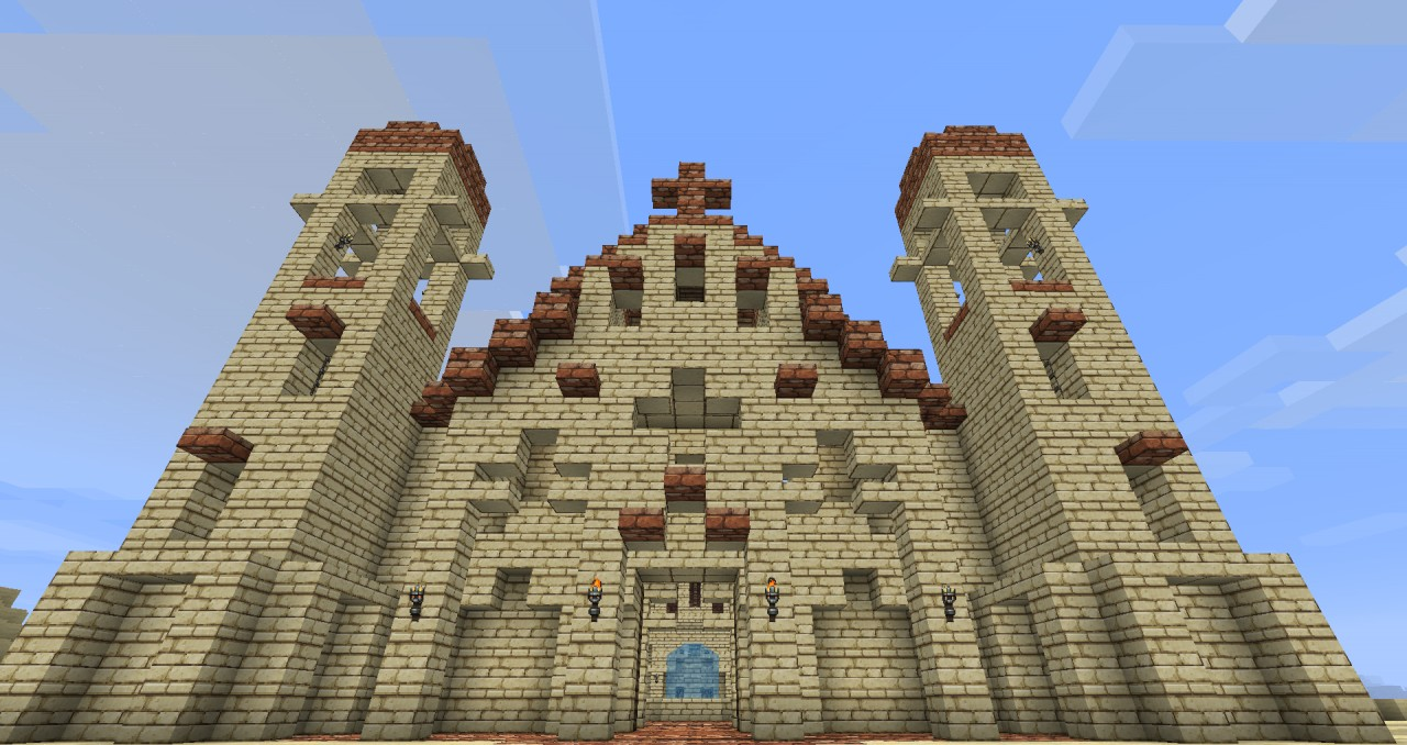 Western Inspired Spanish Mission Minecraft Project