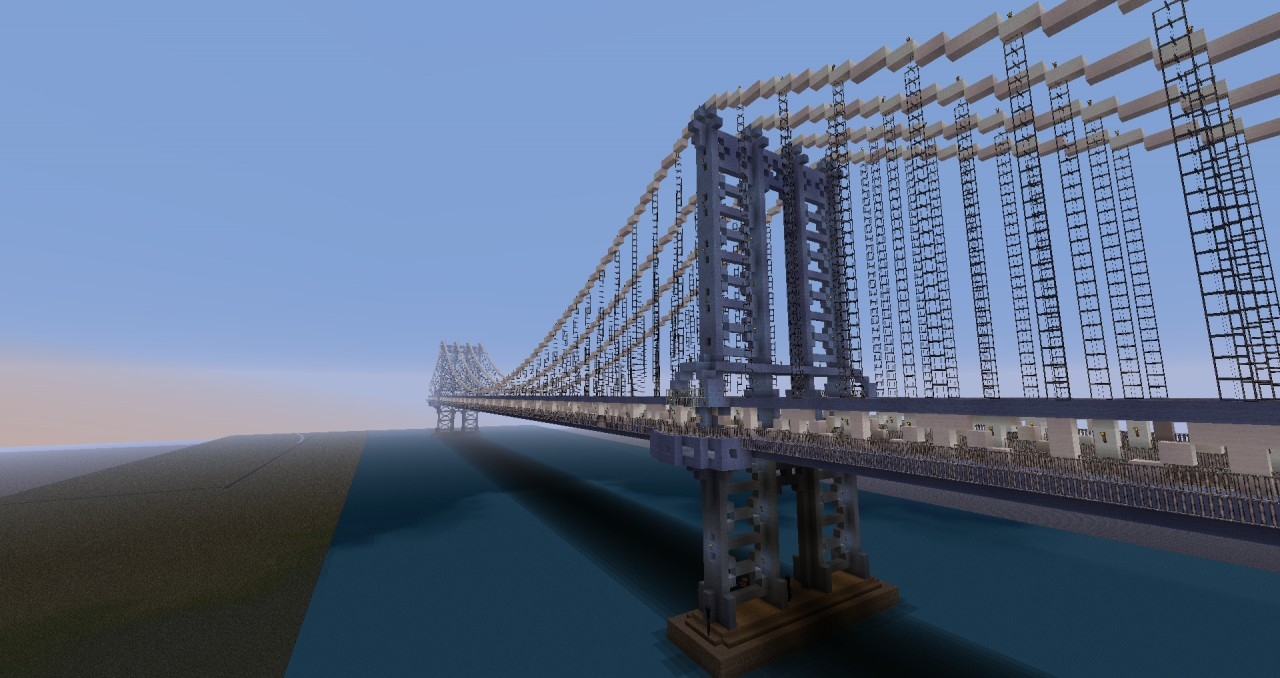 Suspension Bridge based on the Manhattan Bridge in New York, NY.  1:1.6 scale