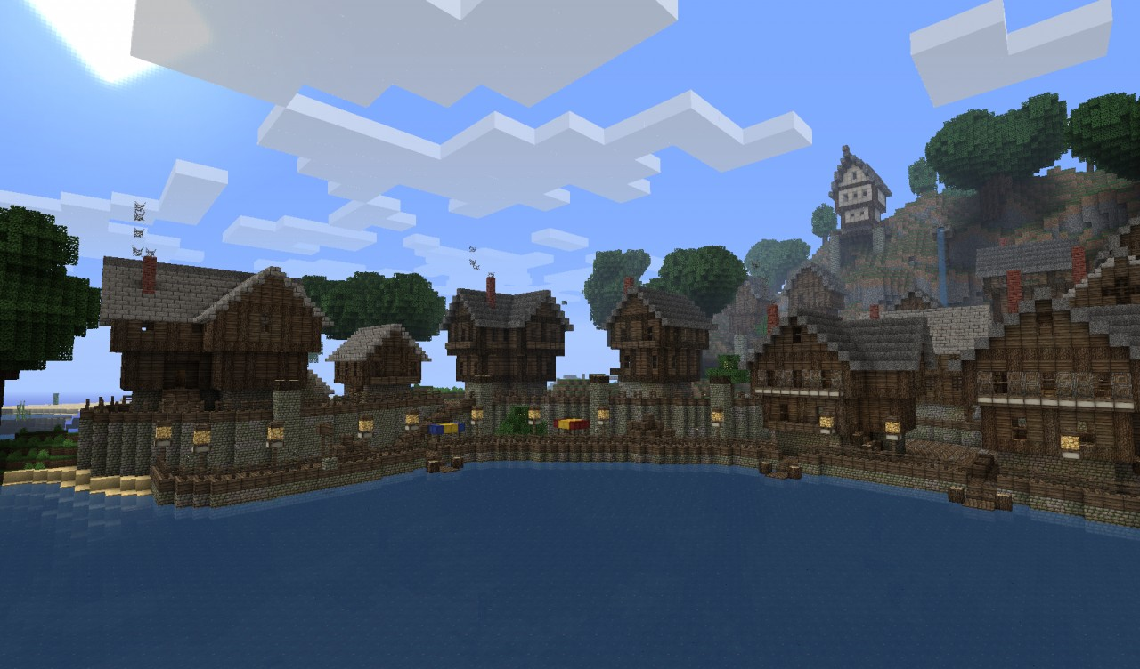 Old Harbour Town Minecraft