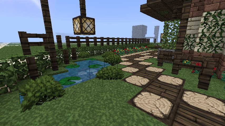 Garden pagoda minecraft project for Garden designs minecraft