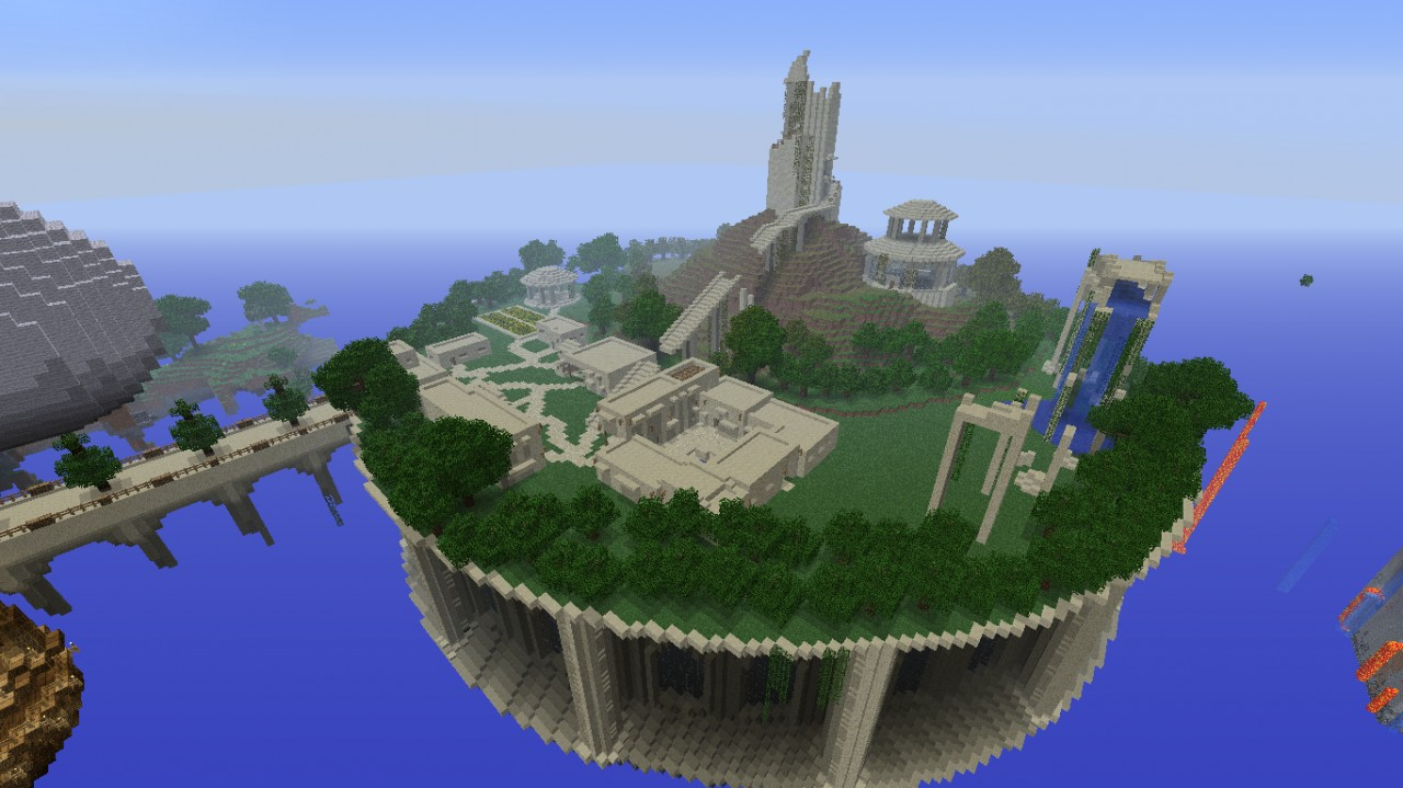 Sky City One ProgressFloating City In The Sky Minecraft