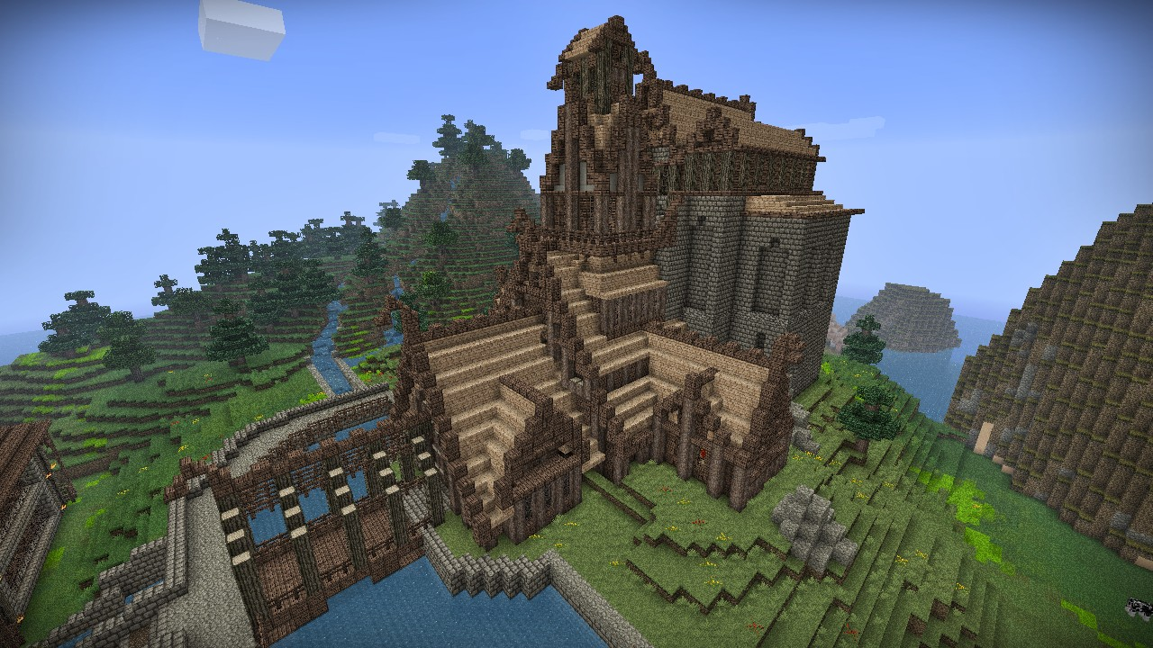 Skyrim Dragonsreach Minecraft Project