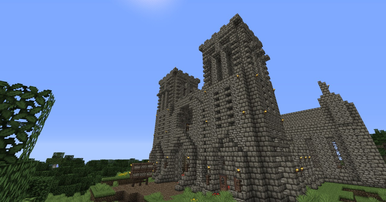how to build a church in minecraft