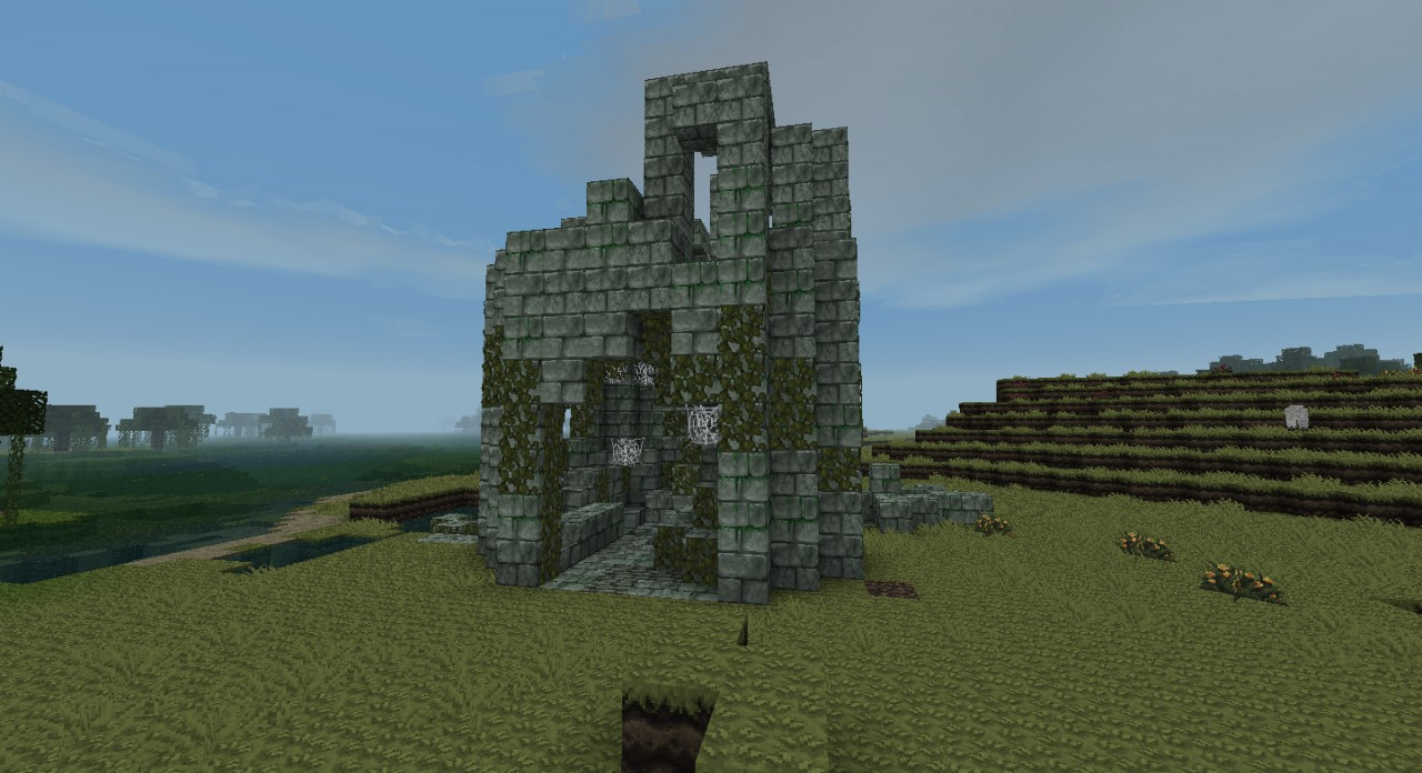 How To Build An Abandoned Stone Tower Minecraft
