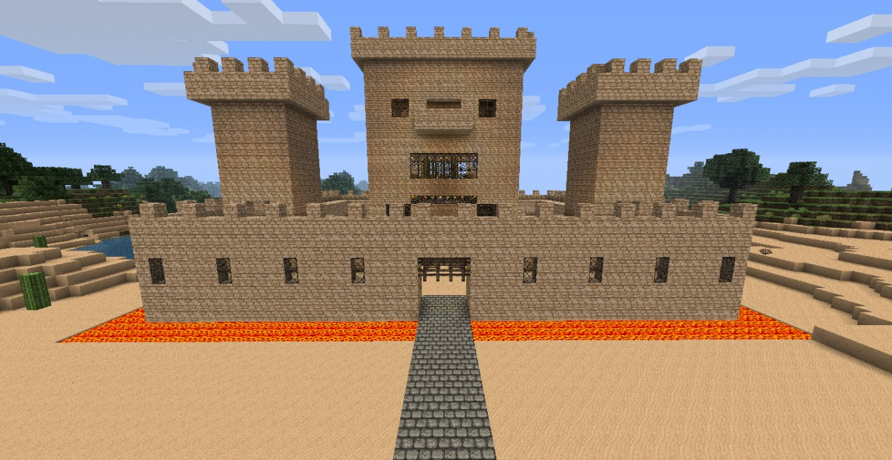 Giant Sandcastle Minecraft Project