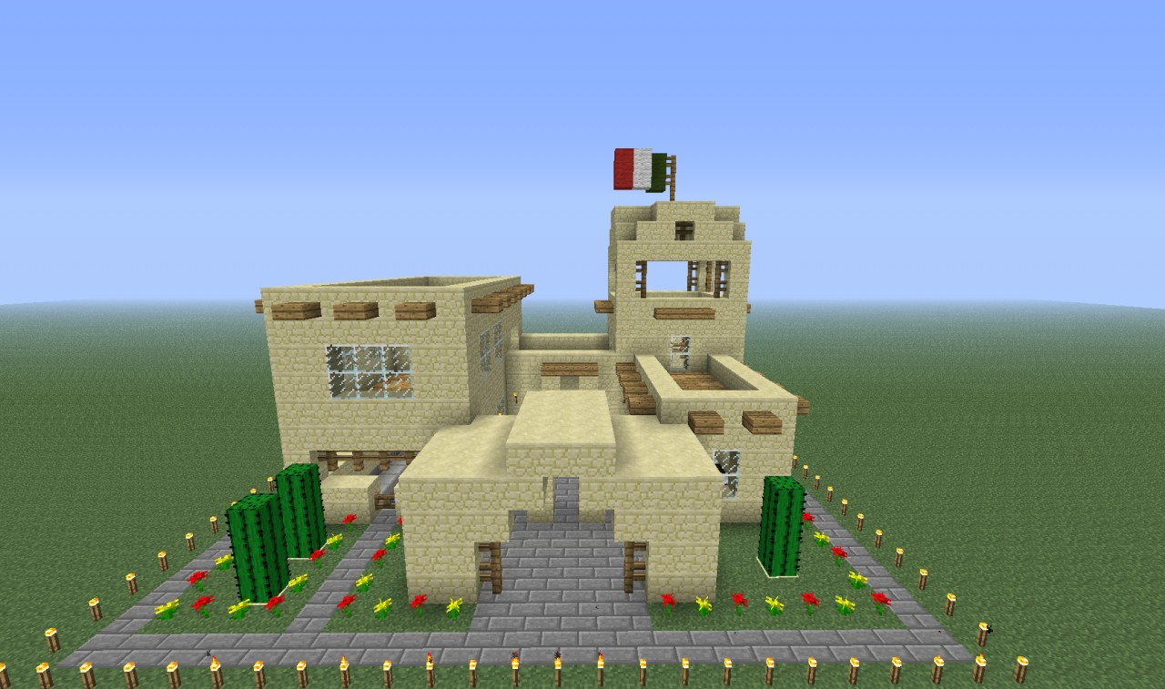 Mexican Style House! Minecraft Project