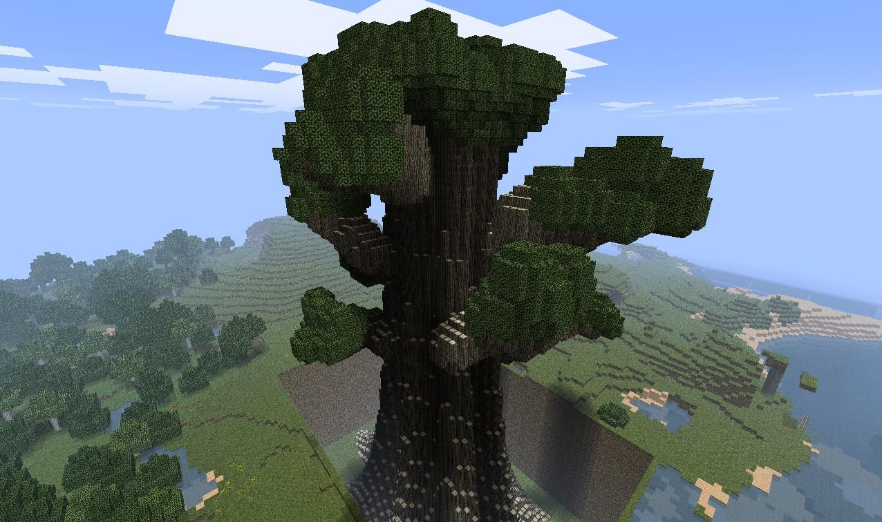 Большие деревья майнкрафт 1.7.10