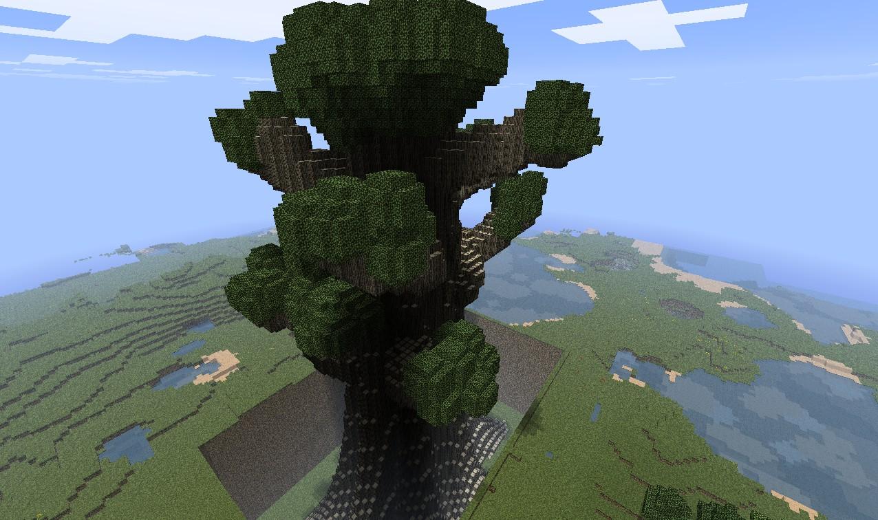 minecraft giant trees