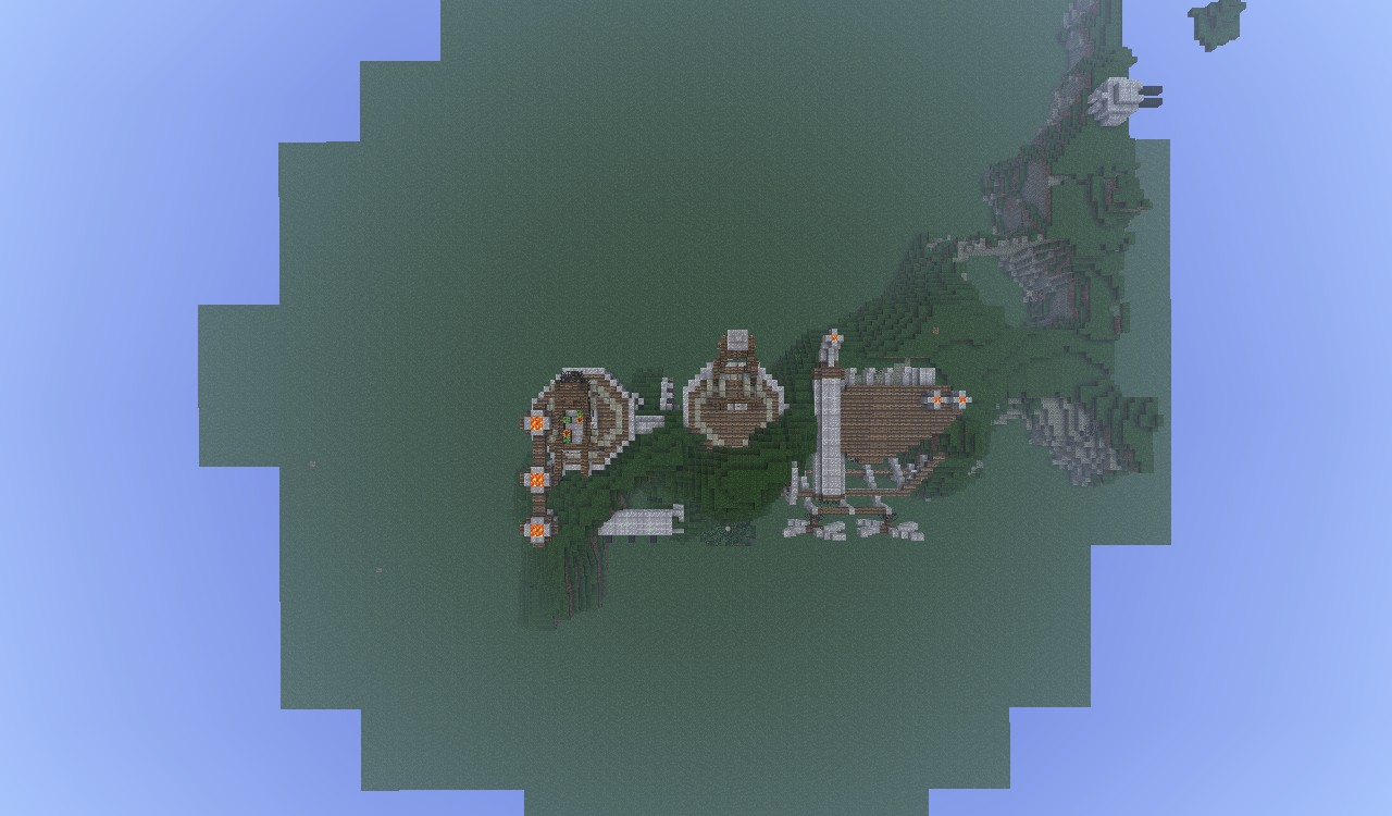 steampunk powerplant and supply station minecraft project
