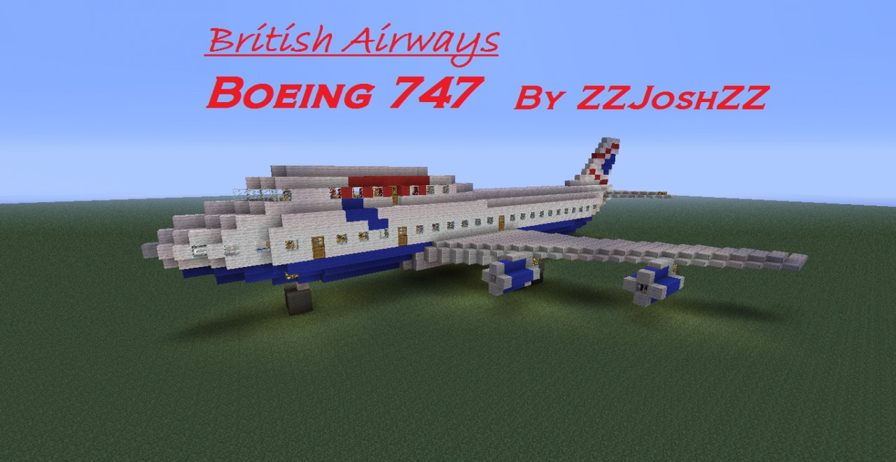 British Airways Boeing 747 Minecraft Project